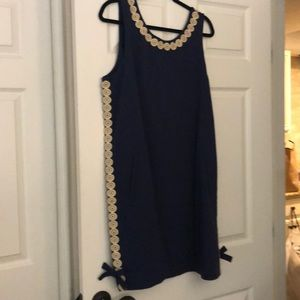 NWT Lilly Pulitzer size xl navy and gold dress